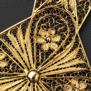 Croce vescovile argento 800 filigrana dorata s6