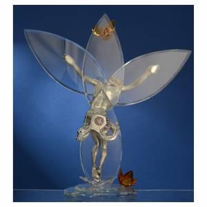 Crocefisso con cristalli Ambra h. 32 cm s4