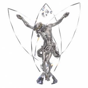 Bomboniere e ricordini: Crocefisso con cristalli bianchi h 21 cm