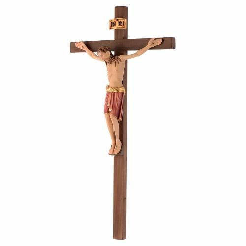 Crocefisso Val Gardena legno dipinto San Damiano s2