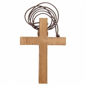 Pendenti croce legno: Crocifisso pettorale legno Bethléem
