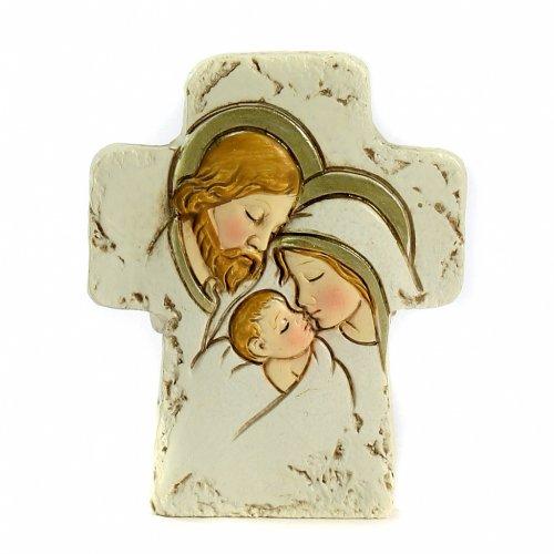 Croix à poser Sainte Famille 8,5x7 cm s1