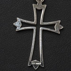 Croix argent 800 percée simple s3