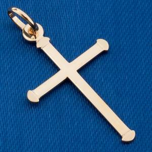 Croix arrondie pendentif or 750/00 - 0,70 gr s3