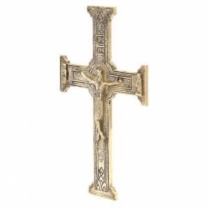 Croix de Christ laiton Moines Bethléem 29x19cm s2