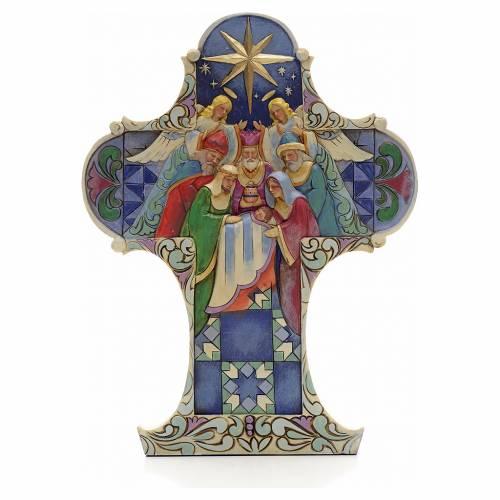 Croix de Noel Sainte Famille Jim Shore - Nativity cross s1