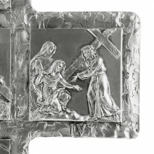 Croix de table argentée chemin de croix s7