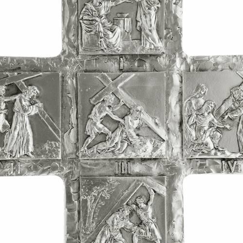 Croix de table argentée chemin de croix s4