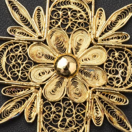 Croix épiscopale filigrane argent avec rayons s7