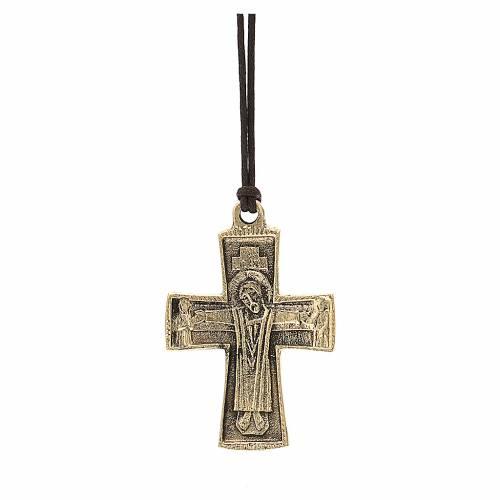 Croix épiscopale Jésus Grand Prêtre Moines Bethléem 7x4,5cm s1