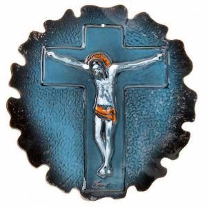 croix murale en céramique, diamètre de 30 cm s3