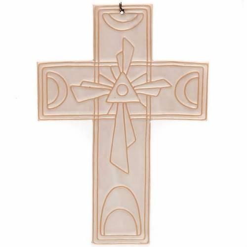 Croix murale en céramique Trinité s3