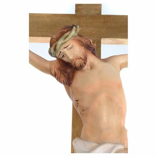 Croix procession bois h 220 cm avec base symbole Agneau s2