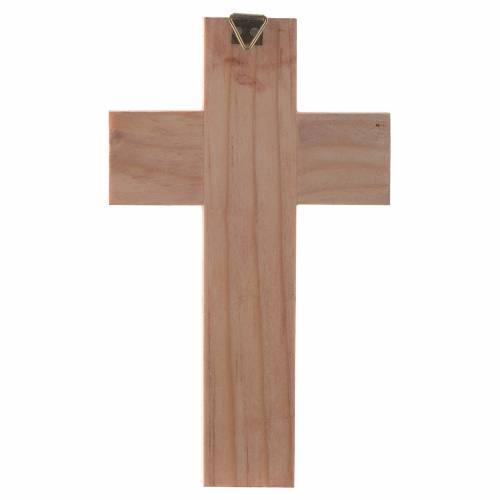 Croix Sainte Famille bois émaillé s5