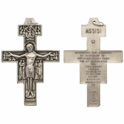 Croix St Damien métal argenté 5.8 cm s1