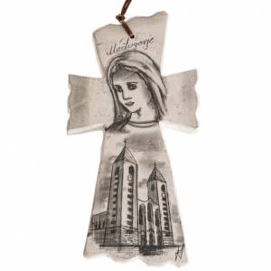 Crosses and magnets: Cross with face of Mary and Medjugorje church