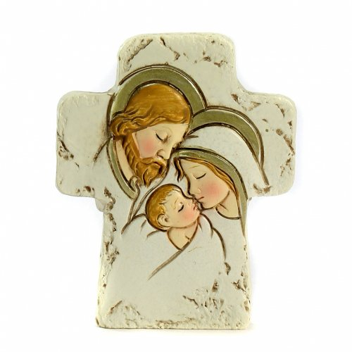 Cross with support Holy Family 8,5x7cm s1