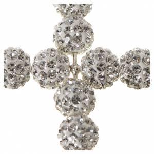 Cross with White Swarovski pearls, 5 x 4 cm s2