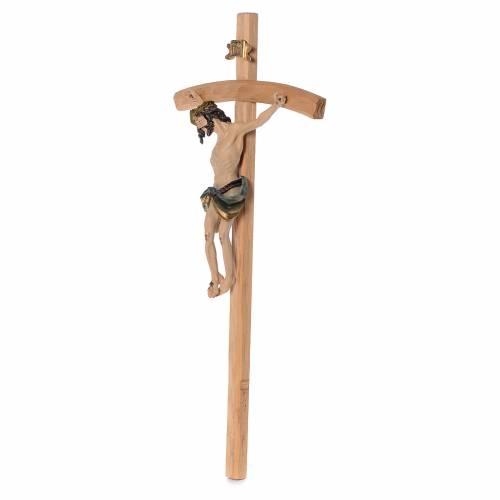 Crucifijo 75 cm resina y madera s2