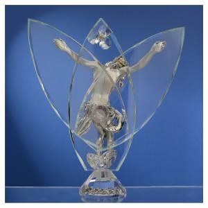Regalos y Recuerdos: Crucifijo con cristales blancos 21 cm