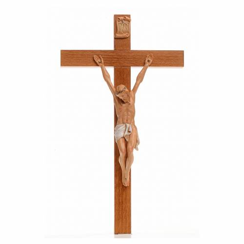 Crucifijo Fontanini 30x17 cm cruz madera cuerpo en pvc s1