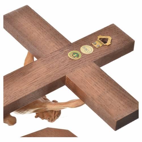 Crucifix à poser Corpus bois patiné Valgardena s5