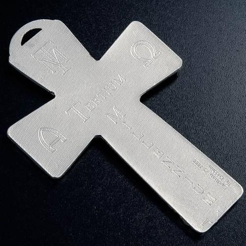 Crucifix argenté resurréction, ascension, saint es s5