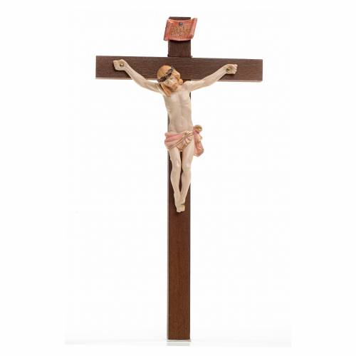 Crucifix bois Chris pvc 23x13 Fontanini type porcelaine s1