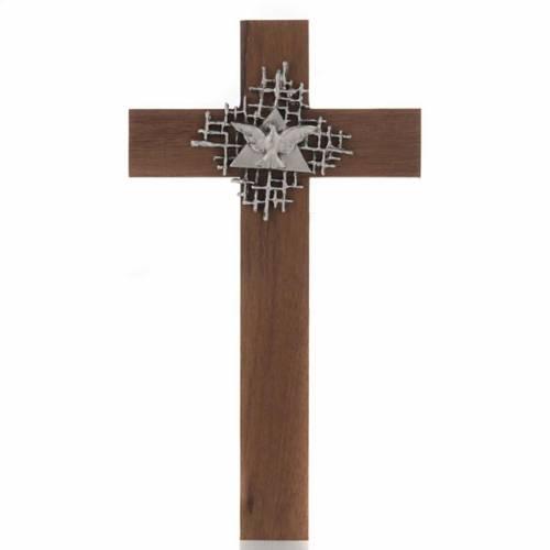 Crucifix bois de noix, Père, Saint Esprit s1