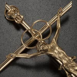 Crucifix en métal: Crucifix doré anniversaire noces d'or
