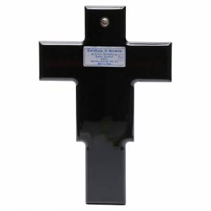 Crucifix doré argenté sur bois s3