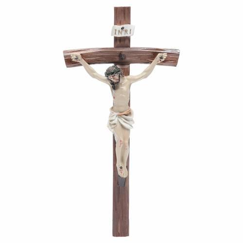 Crucifix résine 24x12 cm s1