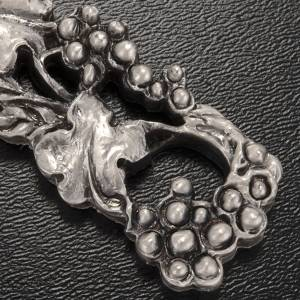 Crucifix, silver-coloured with grapes and branches 13cm s3
