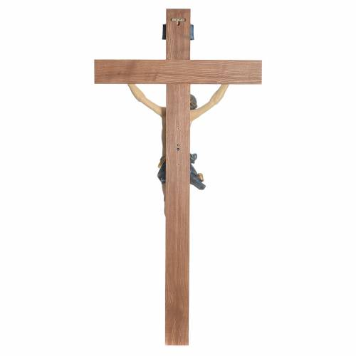 Crucifix, straight, Corpus model in antique gold Valgardena wood s10