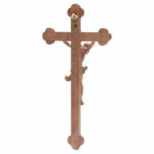 Crucifix trilobé Valgardena mod. Corpus patiné s4