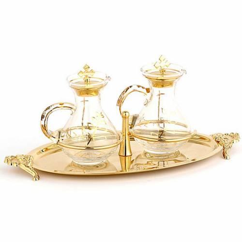 Cruet set with brass tray s1