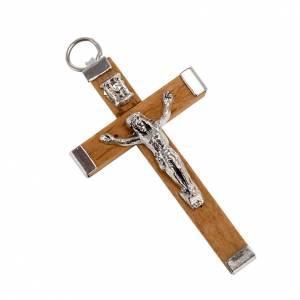 Rosario Hecho por TI: Cruz de madera y metal para la fabricación de rosarios.