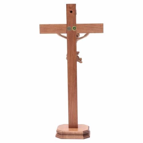 Cruz de mesa modelo Corpus madera Valgardena varias patinaduras s4