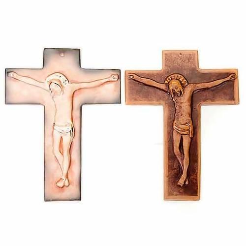 Cruz de muro cerámica 27 cm s1
