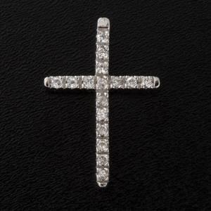 Cruz  de plata 925 con strass s4