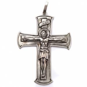 Artículos Obispales: Cruz Pectoral crucifijo de plata 800