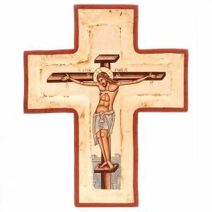 Íconos en cruz: Cruz serigrafiada con incisión