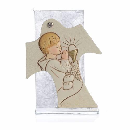 Cuadro Cruz Sagrada Familia ámbar 11,5 x 8 cm s3