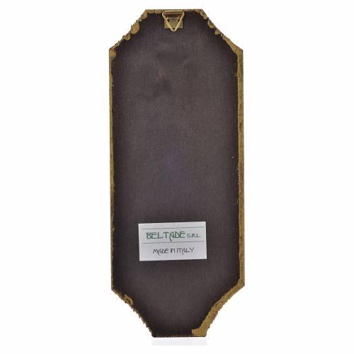Cuadro de madera Divina Misericordia 18,5x7,5 cm s2