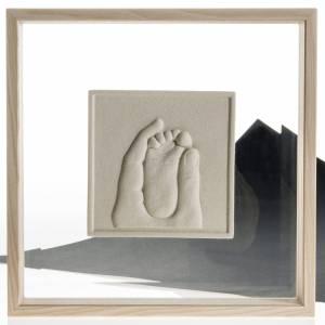 Cuadro en bajorrelieve Nacimiento de porcelana s4