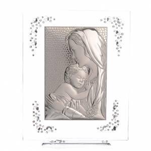 Cuadro Maternidad Plata y Swarovski Blanco s1