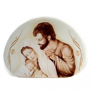 Regalos y Recuerdos: Cuadro Semi Ovalado Sagrada Familia 15 x 21 cm