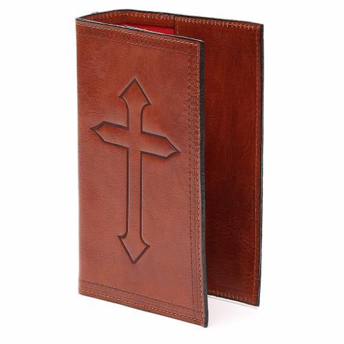 Custodia 4 Vol. marrone pelle Croce impressa s2