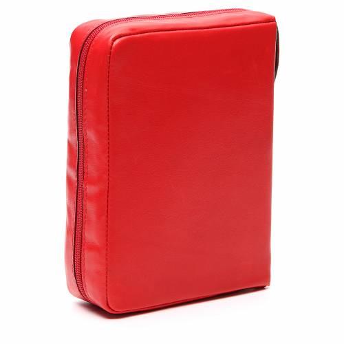 Custodia Bibbia Ger. Pelle rossa Pantocratore Pictografia s3