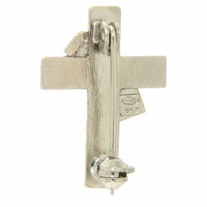 Clergy cross lapel pins: Deacon cross lapel pin in 925 silver